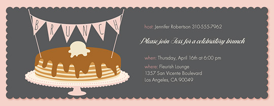 Pancake Brunch Invitation