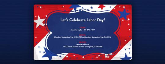 Patriotic Stars Invitation