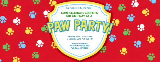 Paw Party Invitation