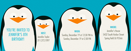 penguins, penguin, kids birthday, blue, animal, animals,