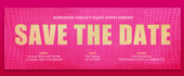 girl, girlie, pink, polka dots, save the date