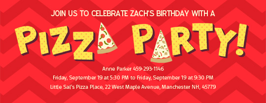 Pizza Pizza Invitation