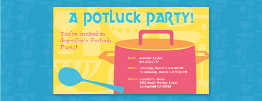 Potluck Party Invitation