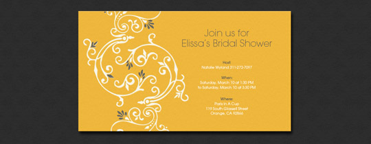 floral, flower, shower, spring, vine, yellow, garden, bridal, bridal shower, girls, bride,