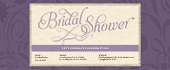bridal, bride, purple, shower, wedding
