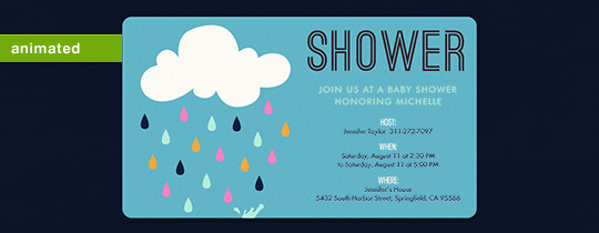 animated, baby, baby shower, blue, boy, cloud, rain, raindrops, shower, sprinkle