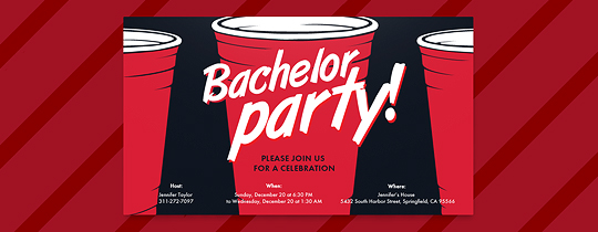 Red Cups Invitation