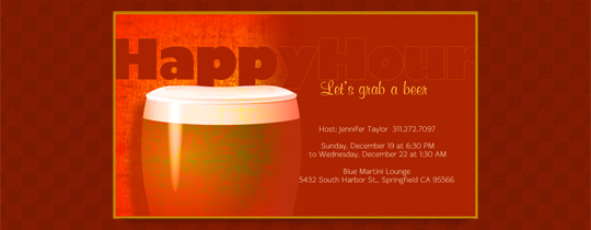 Red Lager Invitation