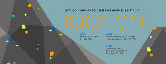 Rock On Invitation