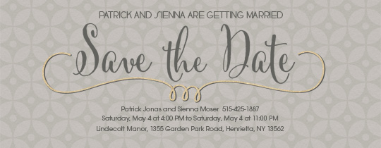 Custom Save the Date Cards, Edit Online 5x7 Paper Invitation Card ...