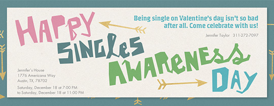 Singles Awareness Party Invitation