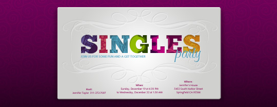 Singles Party Invitation