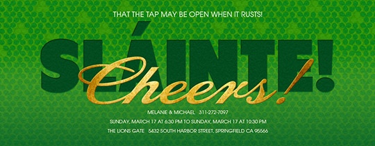 Slainte Invitation