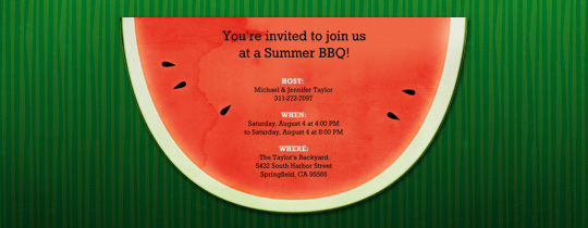 Slice of Melon Invitation