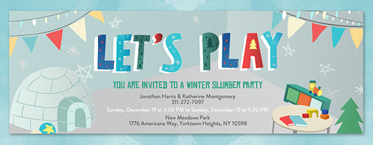 Snowy Adventure Invitation