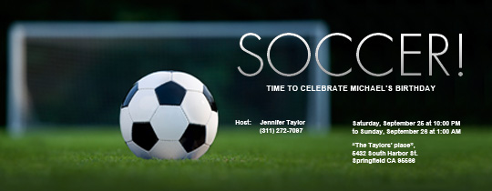 Soccer Field Invitation