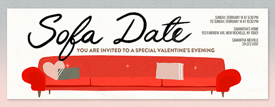 Sofa Date Invitation