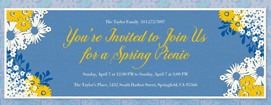Spring Has Sprung Invitation