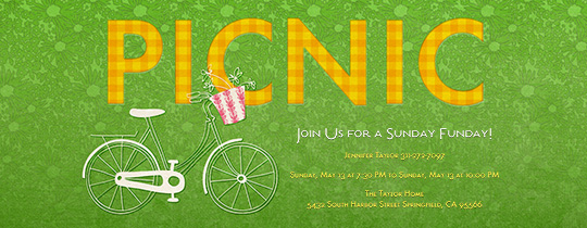 Spring Picnic Invitation