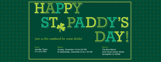 St. Paddy's Invitation