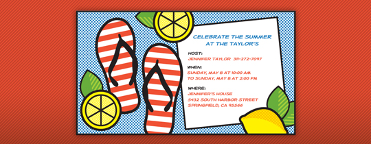 Summer Sandals Invitation