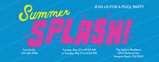 Summer Splash Invitation