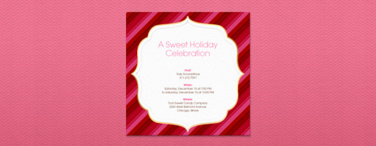 Sweet Stripes Invitation