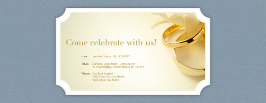 The Rings Invitation