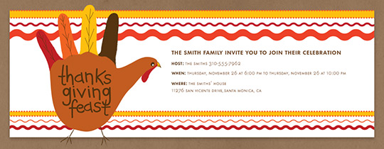 Turkey Hand Invitation