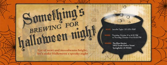 Vintage Cauldron Invitation