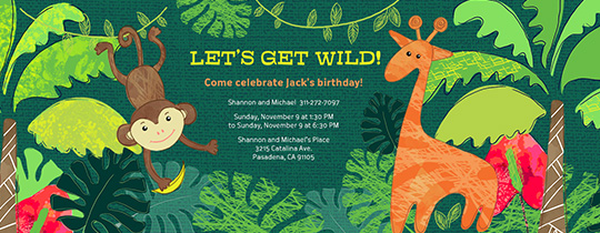Wild Jungle Invitation