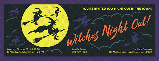 Witches Nigh tOut Invitation