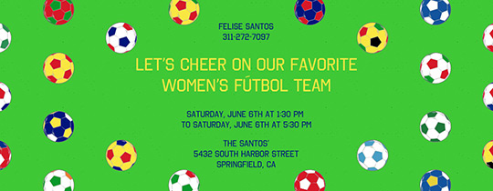 Women's World Soccer Invitation
