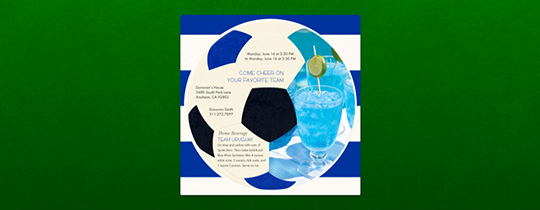 World Cup Cocktails Invitation