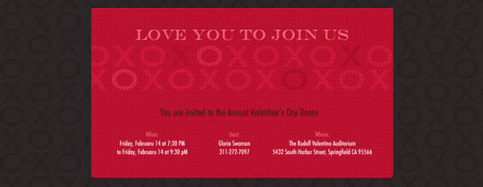XOXO Invitation