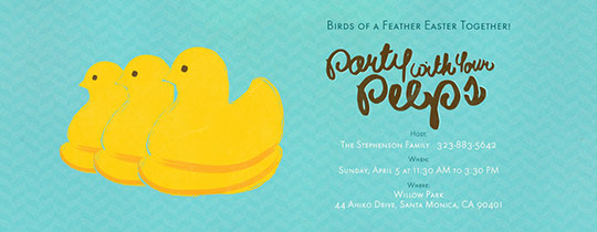 Your Peeps Blue Invitation