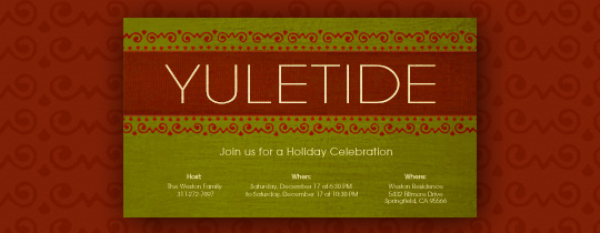 Yuletide Invitation