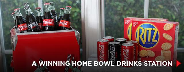 A Winning Home Bowl Drinks Station