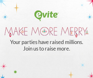Evite Invites Partygoers to Give Back This Holiday