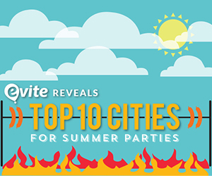 Evite Reveals Top 10 Cities for BBQ/Pool Parties