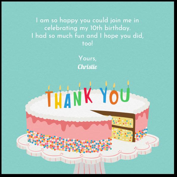 Amazing Birthday Cake Sprinkles Thank You Card Evite Funny Birthday Cards Online Inifodamsfinfo