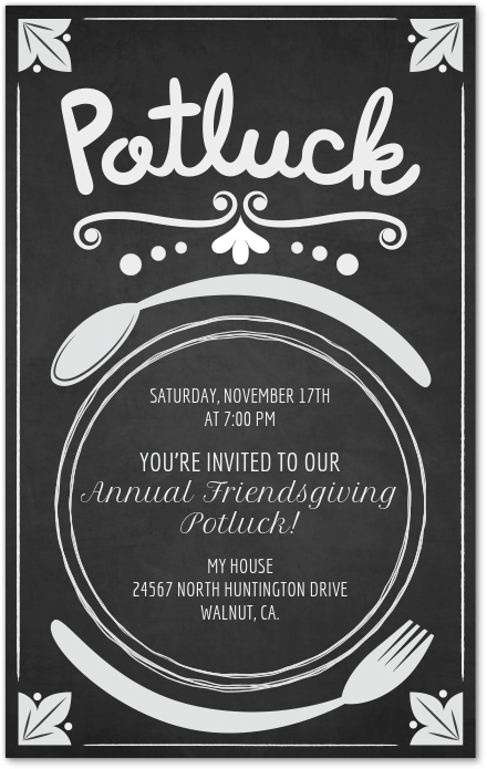 potluck invite invitation evite