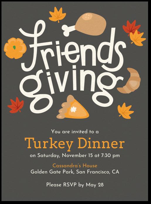 friendsgiving invite invitation evite