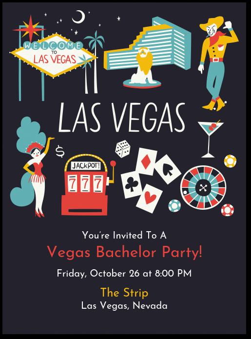 Las Vegas Invite Invitation Evite