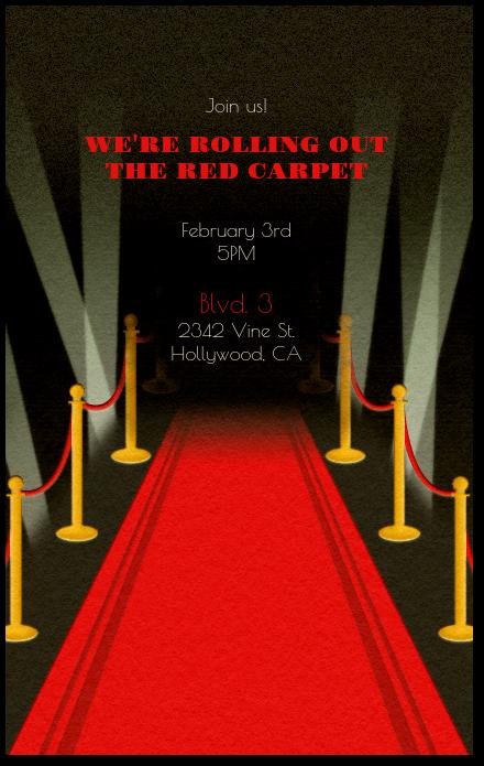 Red Carpet Invitation Evite
