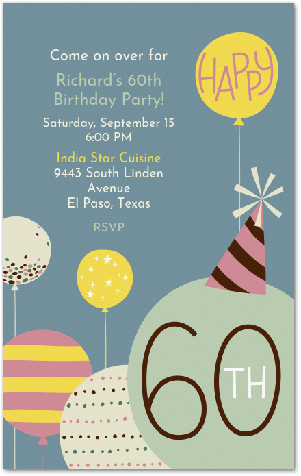 60th Birthday Invitation Evite