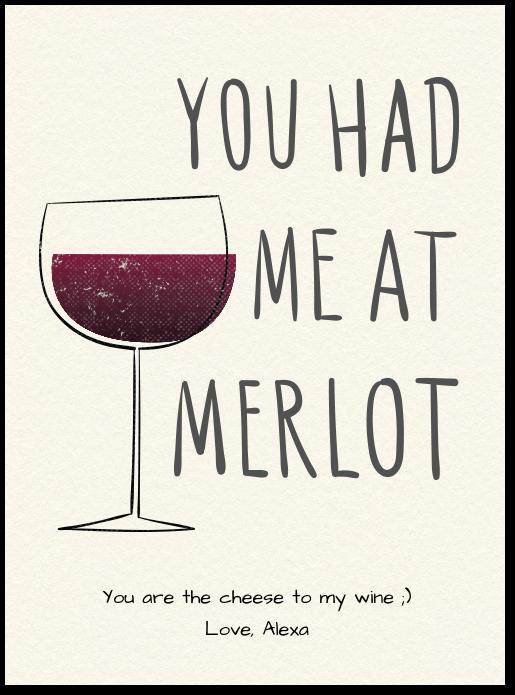 You Had Me At Merlot Card Evite