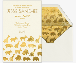 Baby Animal Parade Invitation