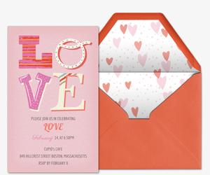 Valentine's Day Online Invitations