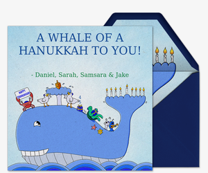 Whale of a Hanukkah Invitation